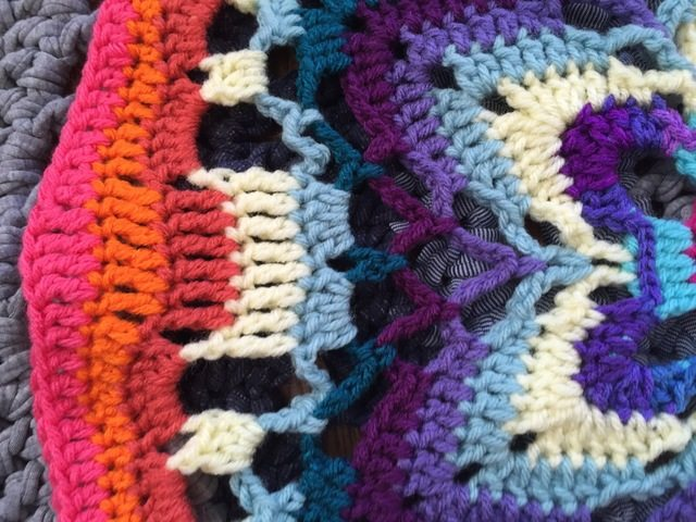 detail of annes crochet starflower mandala
