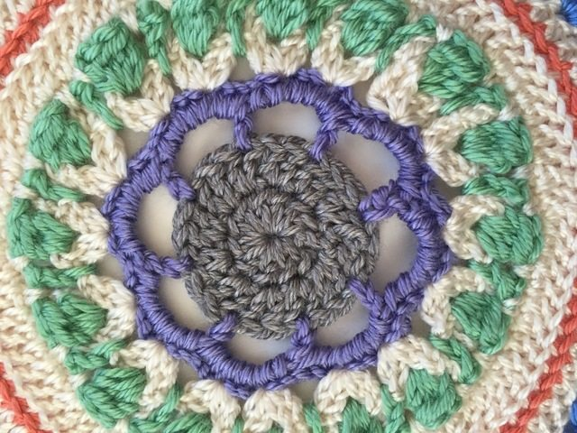 flower crochet mandala by linda