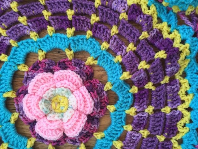 flower detail crochet mandala by dianna