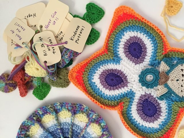 fran crochet mandalas for marinke with heart messages