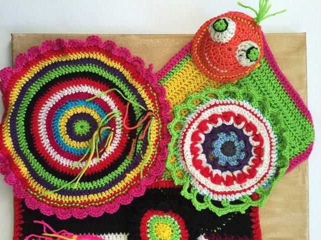 kerry's crochet mandala art for marinke