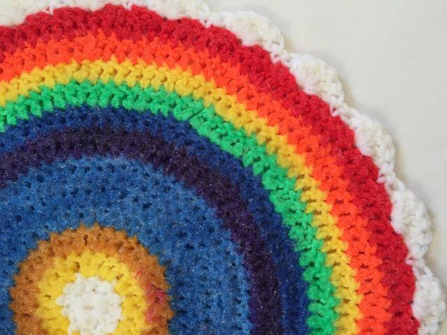 linda crochet rainbow mandala for sammy