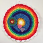 linda rainbow crochet mandala for sammy
