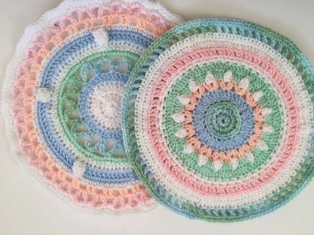 matching crochet mandalas by dianna