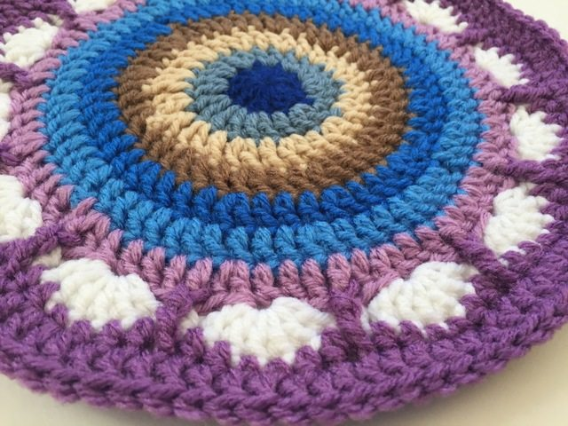 purple crochet mandala by dianna
