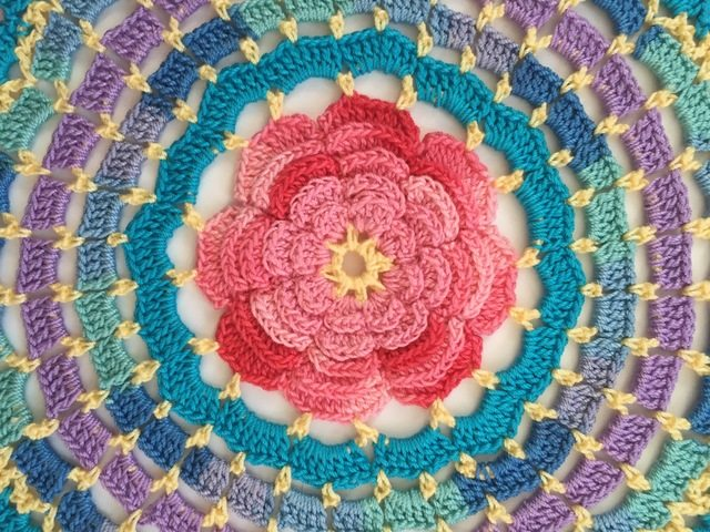 rose crochet mandala by dianna
