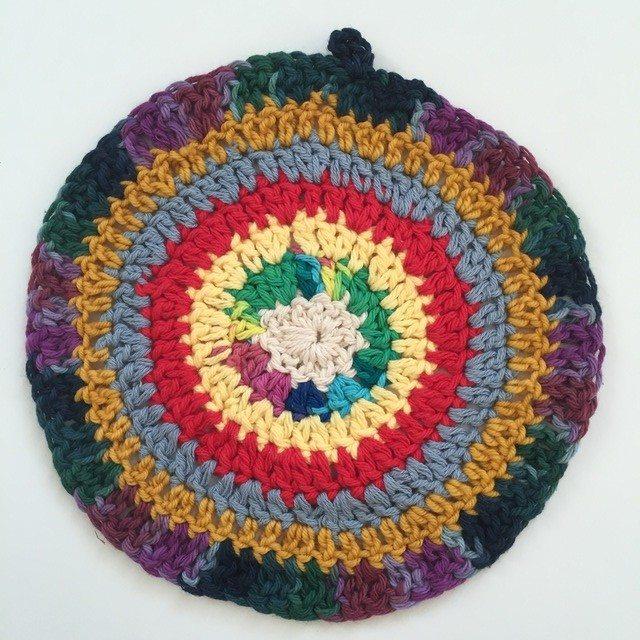 small crochet mandala by marcia