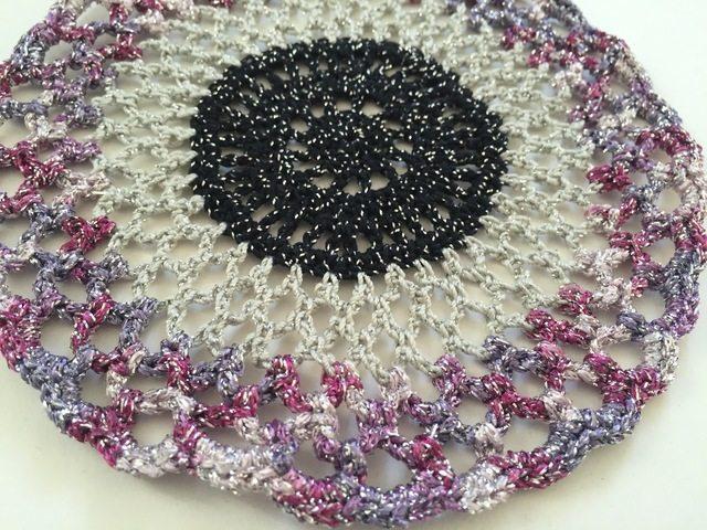 sparkly crochet mandala by dianna