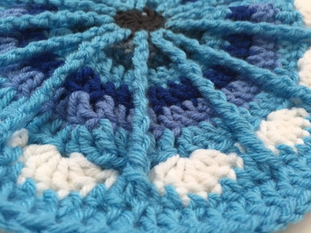 Crochet Patterns Native American : Today?s crochet mandala, made using Wink?s mandala pattern for the ...