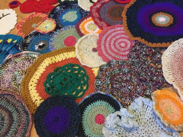 large set of crochet mandalas for marinke