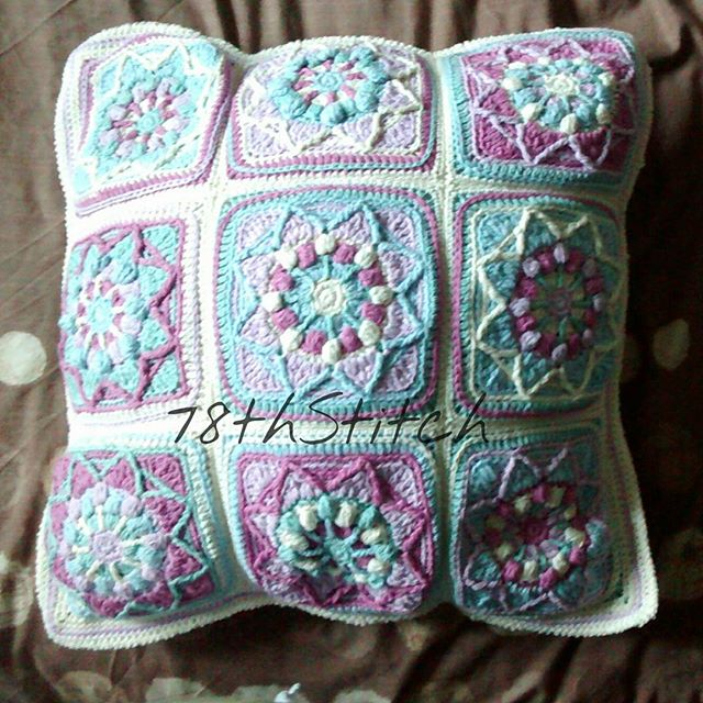 78th.stitch overlay sunflower cushion lillabjorn crochet pattern