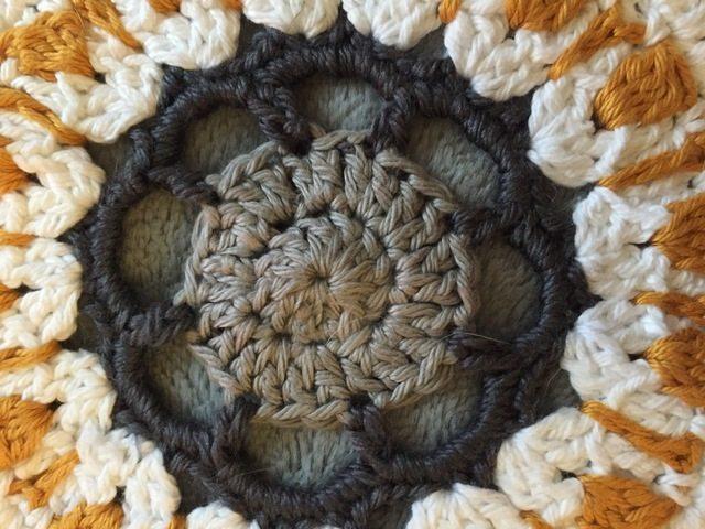 Felicia's Crochet Mandala center detail