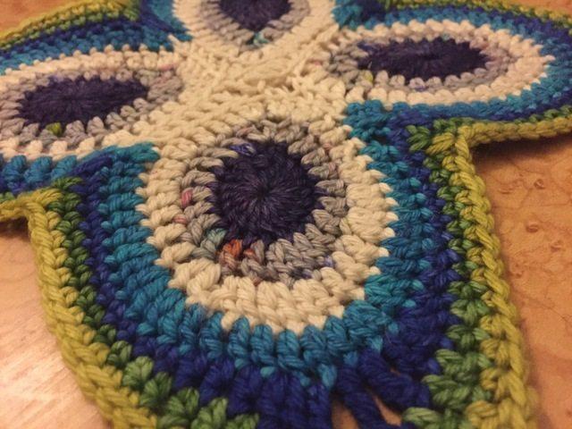 Janice Butterfly Peacock Crochet Mandala
