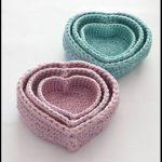 abagfullofcrochet crochet heart nesting baskets