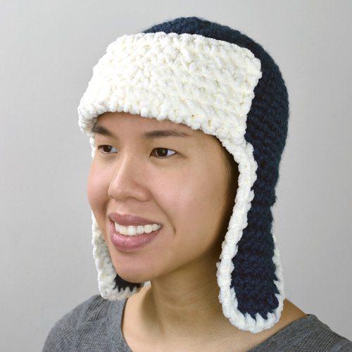aviatore cappello del crochet modello