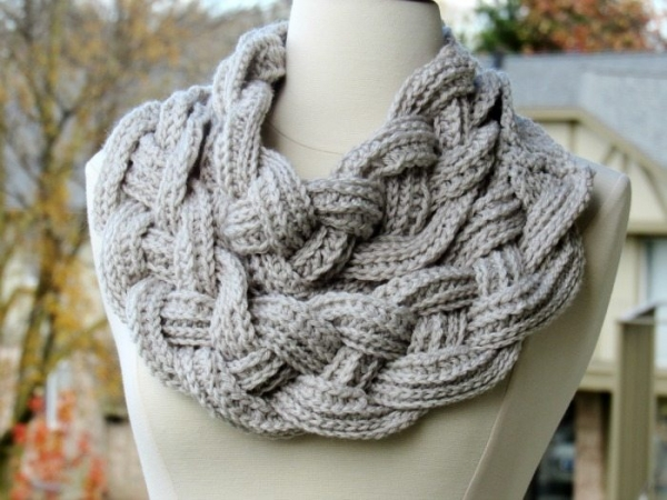 Crochet Baby Cowl Pattern Free : Free Crochet Cowl Pattern Diamonds Cables Winter Scarf ...