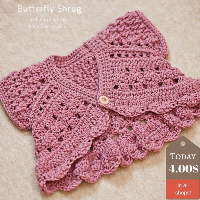 butterfly shrug crochet pattern