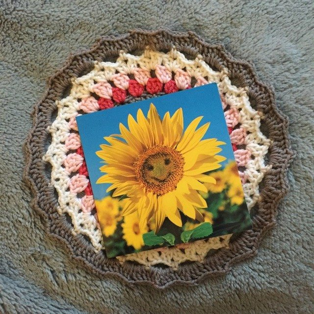 caroline crochet mandalas for marinke with message