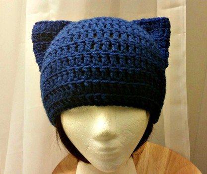 uncinetto gatto Beanie Hat modello gratuito