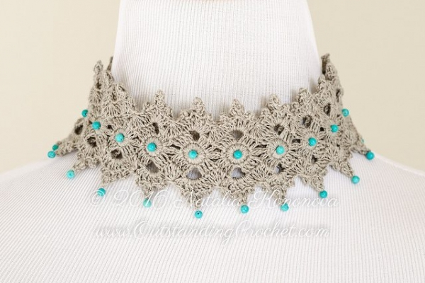 crochet choker necklace pattern
