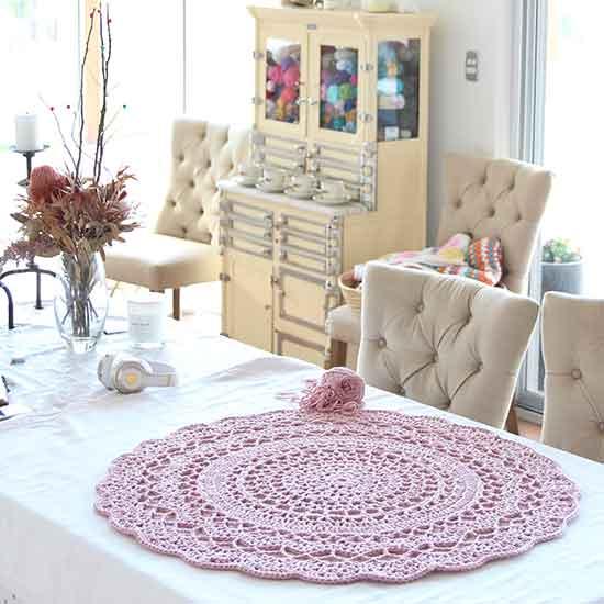 crochet chunky floor rug free pattern