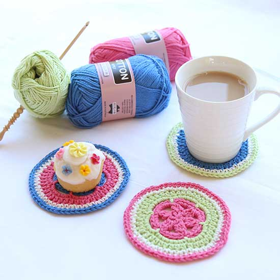 crochet coasters free pattern
