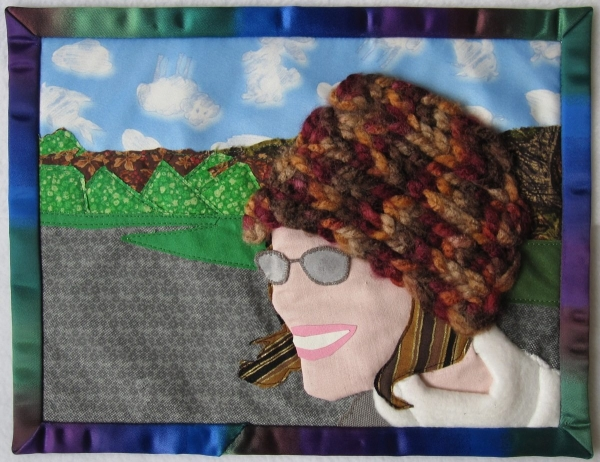 crochet fiber self portrait