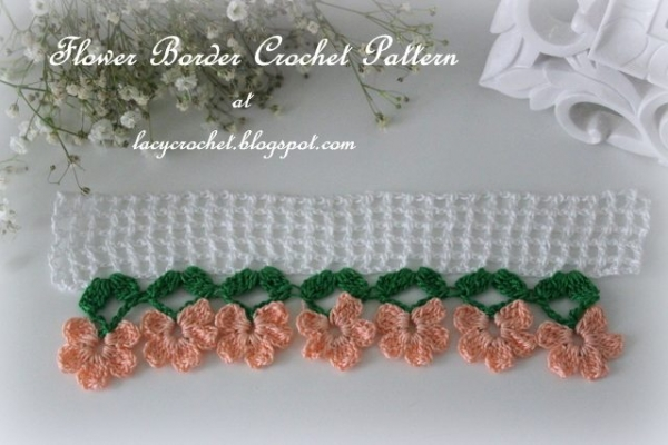 crochet flower border free pattern