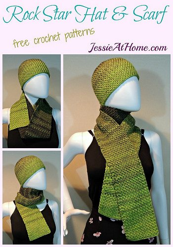 crochet hat and scarf free crochet patterns
