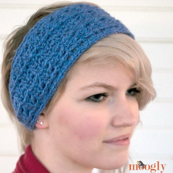 Free Crochet Pattern Headband Ear Warmer : 15 Pretty Crochet Accessories Patterns