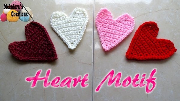 crochet heart free pattern