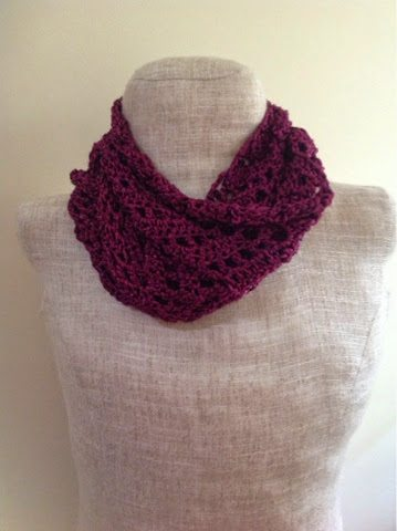 Free Crochet Pattern Lacy Infinity Scarf : Magnificent Crochet Finds Including 30+ New Crochet Patterns