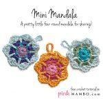 crochet mini mandala free pattern