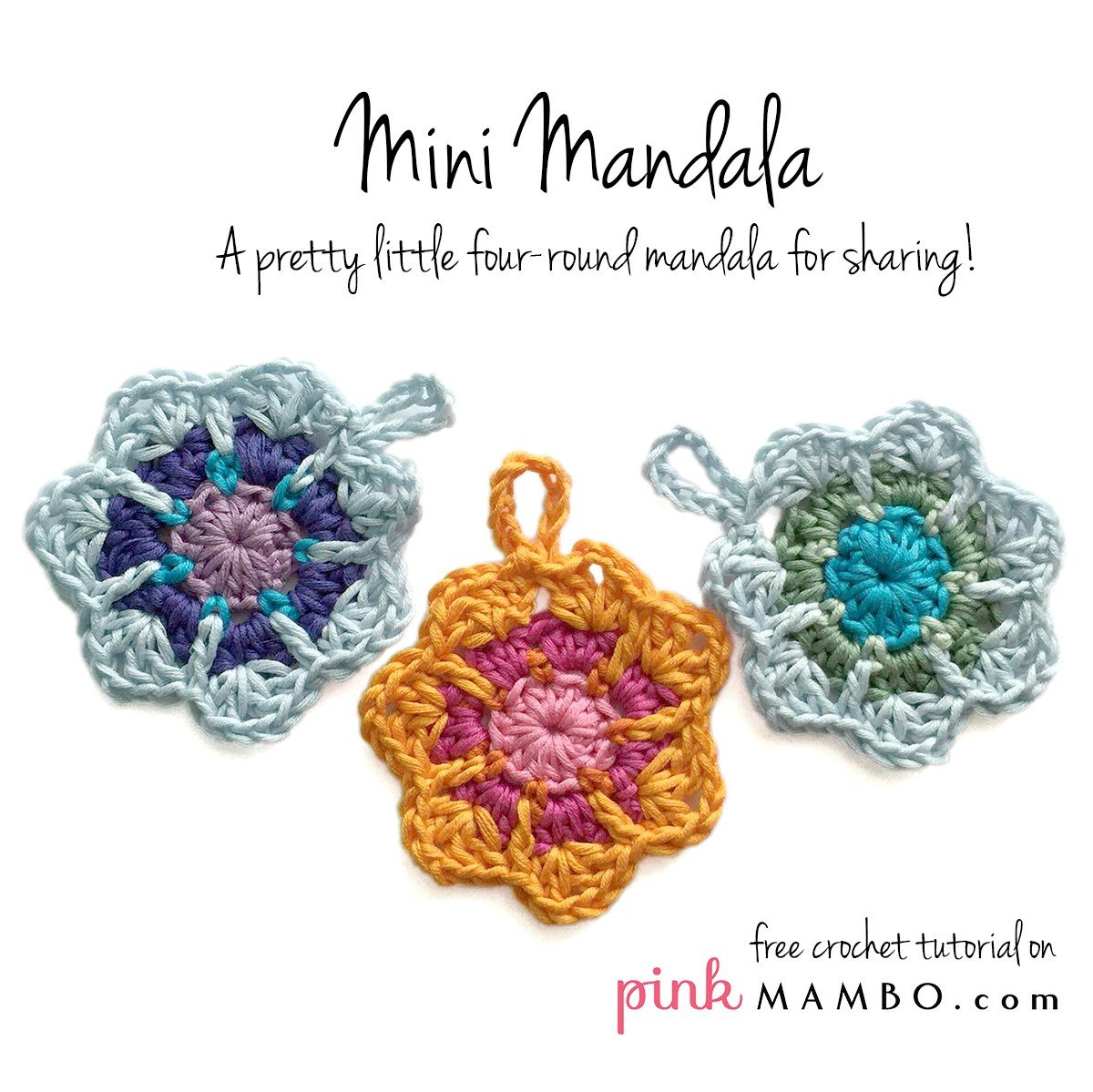 Crochet Mini Mandala Free Pattern Mandalas For Marinke Crochet
