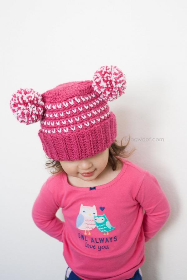 crochet pom beanie pattern