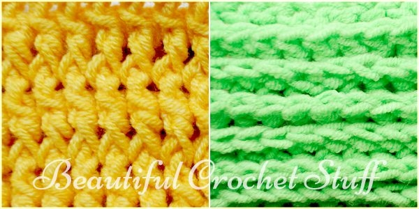 Crochet Stitches Back Post Double Crochet : ... to crochet front and back post stitches via Beautiful Crochet Stuff