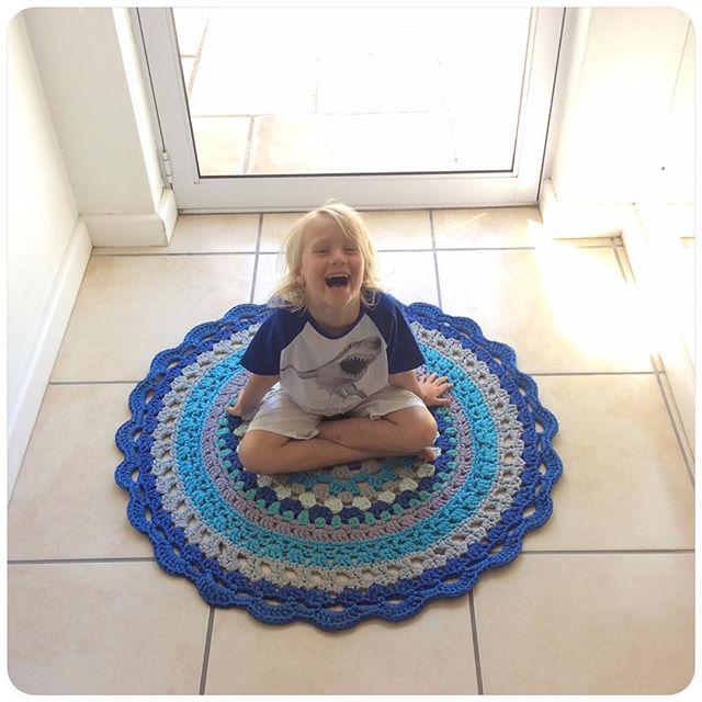 crochetinpaternoster crochet mandala rug