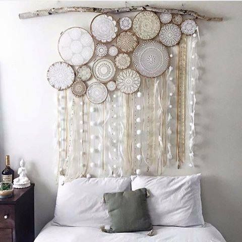 doily dreamcatcher wall art