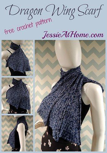 Dragon Wings Knitting Pattern : One Dozen New Crochet Patterns from Jessie Rayot   Crochet Concupiscence