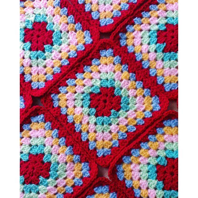 flossiecottage crochet granny squares
