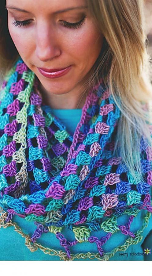 granny crochet cowl free pattern