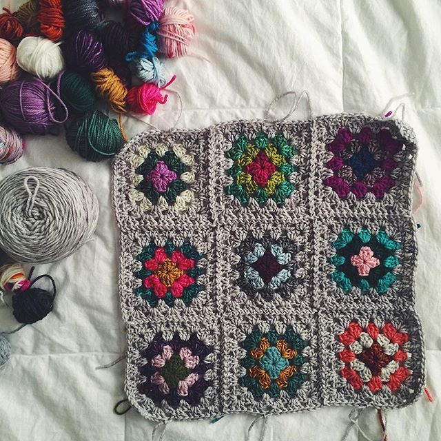 greenletterday crochet granny squares