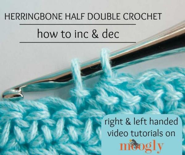 hdc herringbone crochet
