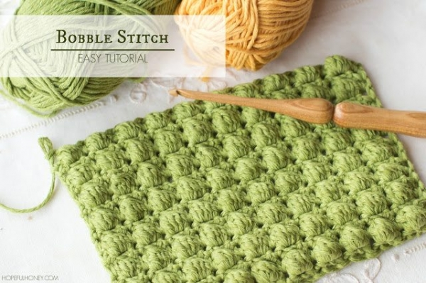 how to crochet bobble stitch
