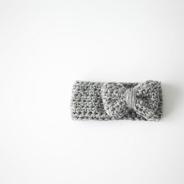 ilovetinderbox crochet grey bow