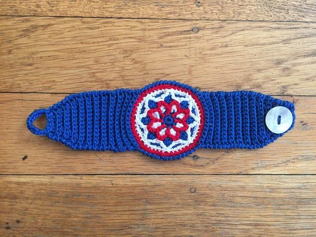kate crochet mandala bracelet