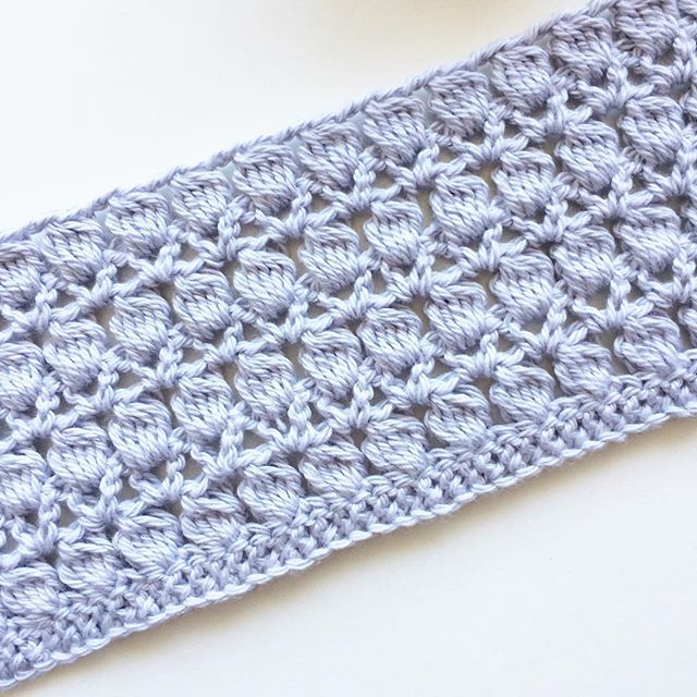 knitpurlhook cluster stitch crochet