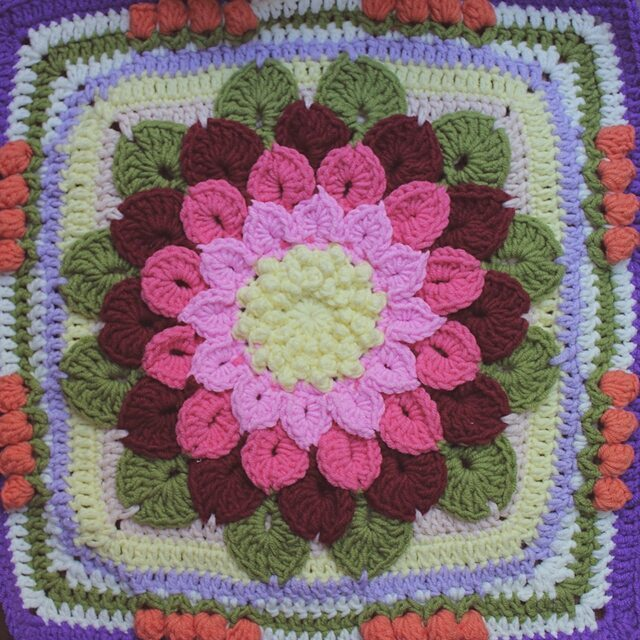 lilac.girl90 crochet flower square