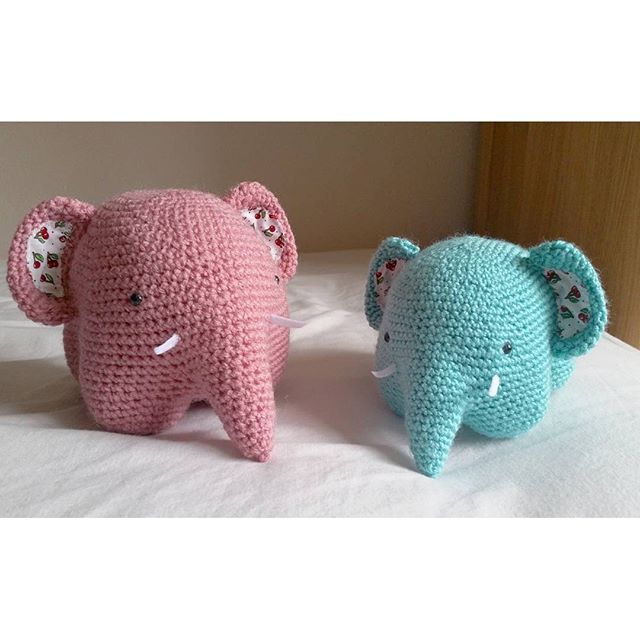 louizamakes crochet elephant using allaboutami pattern