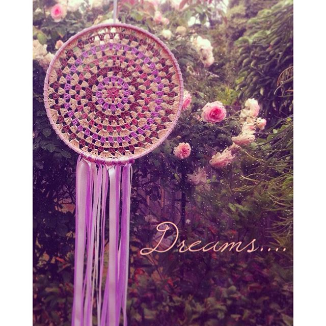 lyndapc crochet granny circle dreamcatcher